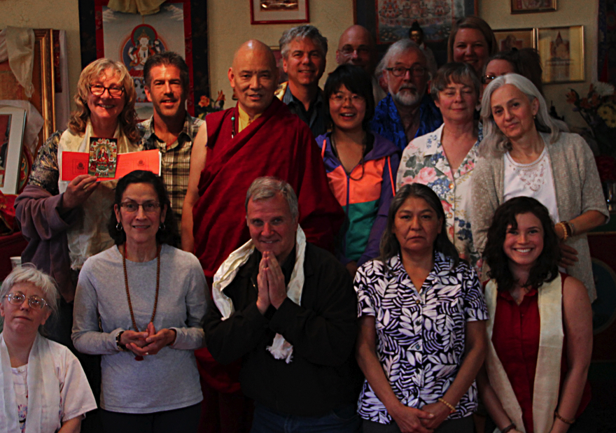Group photo with Lama Tashi